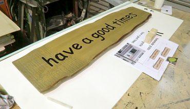 木製ファサード看板(BEANS様)