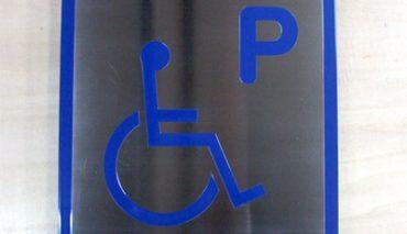 本格ステンレス製 障害者ピクト看板