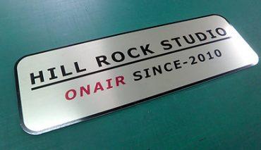 ステン調パネル看板(HILL ROCK STUDIO様)p-018032