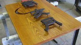木製看板+切文字看板デザイン