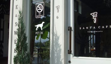 ガラス面カッティングシート(SANTA CAFE様)