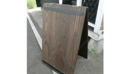 ウェスタン風木製A型看板デザイン(通称イーストウッドマン)