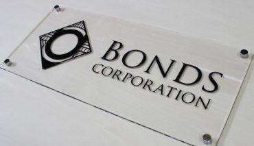 透明アクリル表札看板(Bonds Corporation様)