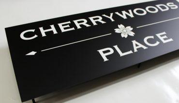 オリジナルアイアン看板(CHERRY WOODS PLACE様)