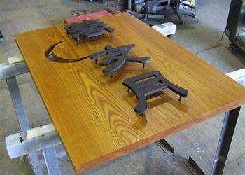 木製+鉄切り